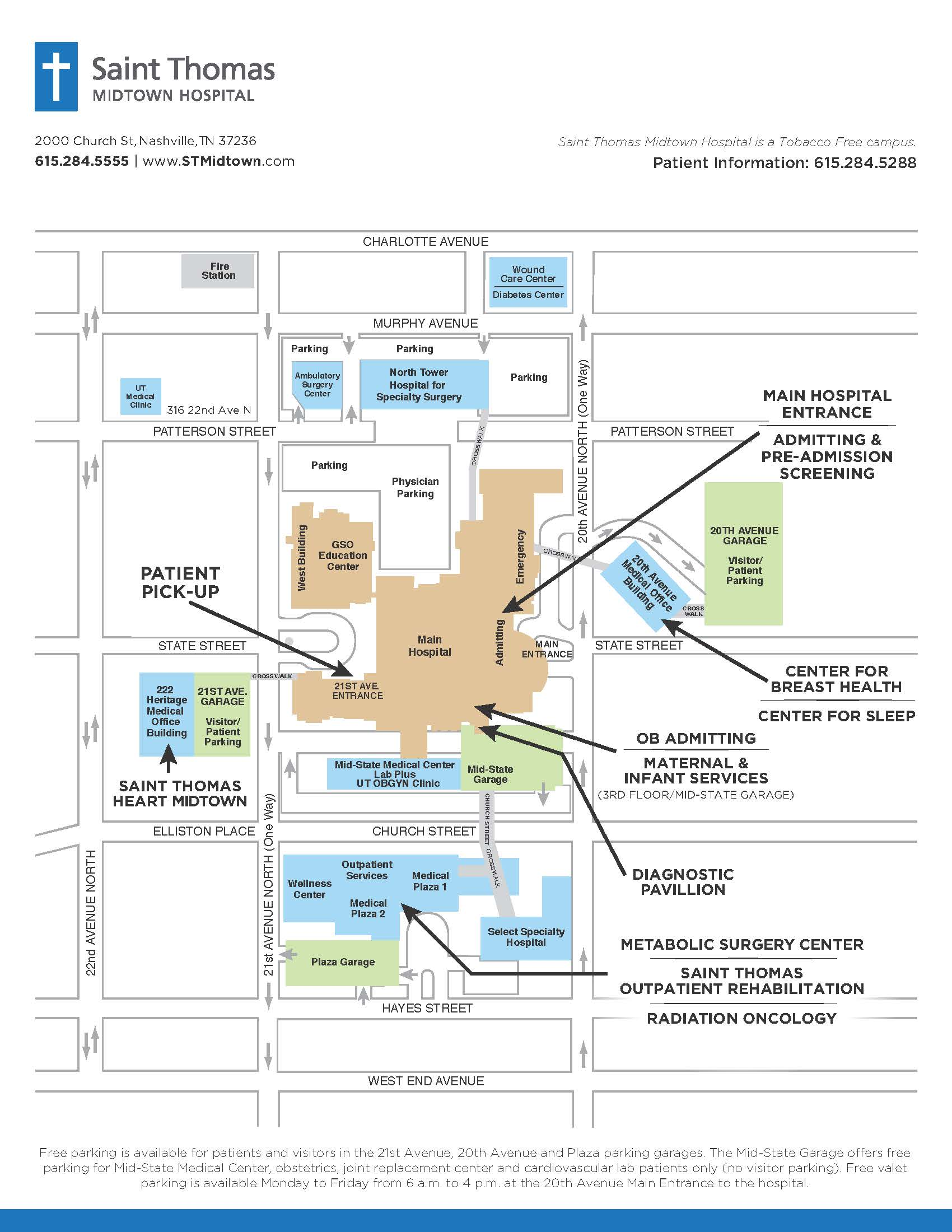 Map and Directions | Saint Thomas Health